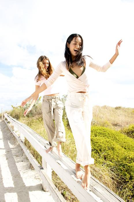 picture of two girls out getting exercise