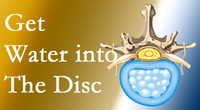 Gormish Chiropractic & Rehabilitation uses spinal manipulation and exercise to enhance the diffusion of water into the disc which helps the health of the disc.