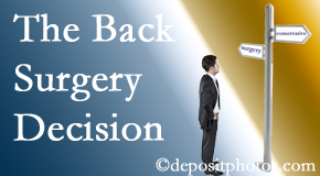 Carrolltown back surgery for a disc herniation is an option to be carefully studied before a decision is made to proceed.