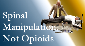 Chiropractic spinal manipulation at Gormish Chiropractic & Rehabilitation is worthwhile over opioids for back pain control.