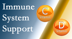 Gormish Chiropractic & Rehabilitation shares details about the benefits of vitamins C and D for the immune system to fight infection.