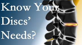 Your Carrolltown chiropractor knows all about spinal discs and what they need nutritionally. Do you?