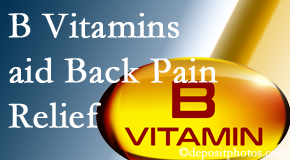 Gormish Chiropractic & Rehabilitation may include B vitamins in the Carrolltown chiropractic treatment plan of back pain sufferers.