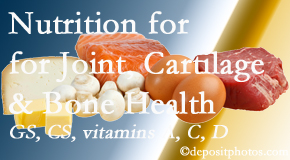 Gormish Chiropractic & Rehabilitation explains the benefits of vitamins A, C, and D as well as glucosamine and chondroitin sulfate for cartilage, joint and bone health.