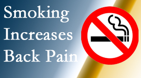 Gormish Chiropractic & Rehabilitation explains that smoking heightens the pain experience especially spine pain and headache.