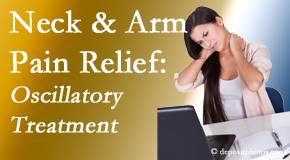 Gormish Chiropractic & Rehabilitation reduces neck pain and related arm pain by using gentle motion-based manipulation.