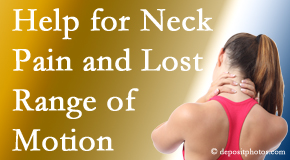 Gormish Chiropractic & Rehabilitation helps neck pain patients with limited spinal range of motion find relief of pain and improved motion.