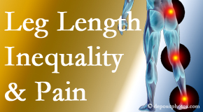 Gormish Chiropractic & Rehabilitation checks for leg length inequality as it is related to back, hip and knee pain issues.