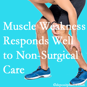 Carrolltown chiropractic non-surgical care often improves muscle weakness in back and leg pain patients.
