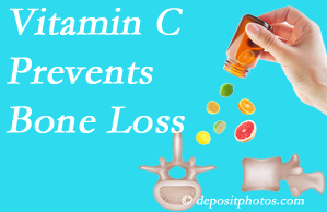 Gormish Chiropractic & Rehabilitation may suggest vitamin C to patients at risk of bone loss as it helps prevent bone loss.