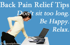 Gormish Chiropractic & Rehabilitation reminds you to not sit too long to keep back pain at bay!