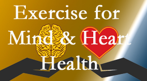 A healthy heart helps maintain a healthy mind, so Gormish Chiropractic & Rehabilitation encourages exercise.