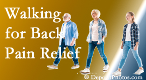 Gormish Chiropractic & Rehabilitation often recommends walking for Carrolltown back pain sufferers.