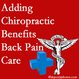 Added Carrolltown chiropractic to back pain care plans works for back pain sufferers.