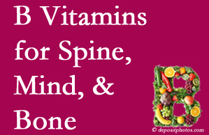 Carrolltown bone, spine and mind benefit from B vitamin intake and exercise.