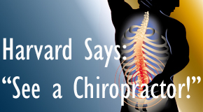 Carrolltown chiropractic for back pain relief urged by Harvard
