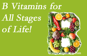 Gormish Chiropractic & Rehabilitation urges a check of your B vitamin status for overall health throughout life.