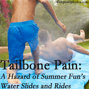 Gormish Chiropractic & Rehabilitation offers chiropractic manipulation to ease tailbone pain after a Carrolltown water ride or water slide injury to the coccyx.