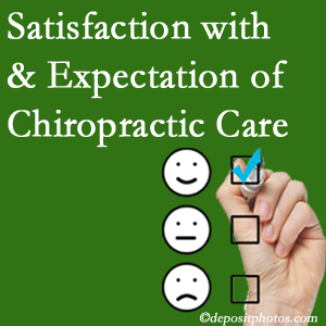 Carrolltown chiropractic care provides patient satisfaction and meets patient expectations of pain relief.