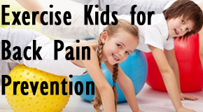 kids exercising