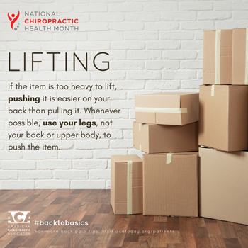 Gormish Chiropractic & Rehabilitation advises lifting with your legs.