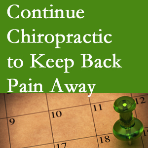 Continued Carrolltown chiropractic care helps keep back pain away.