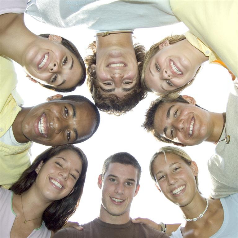 picture of friends in a circle